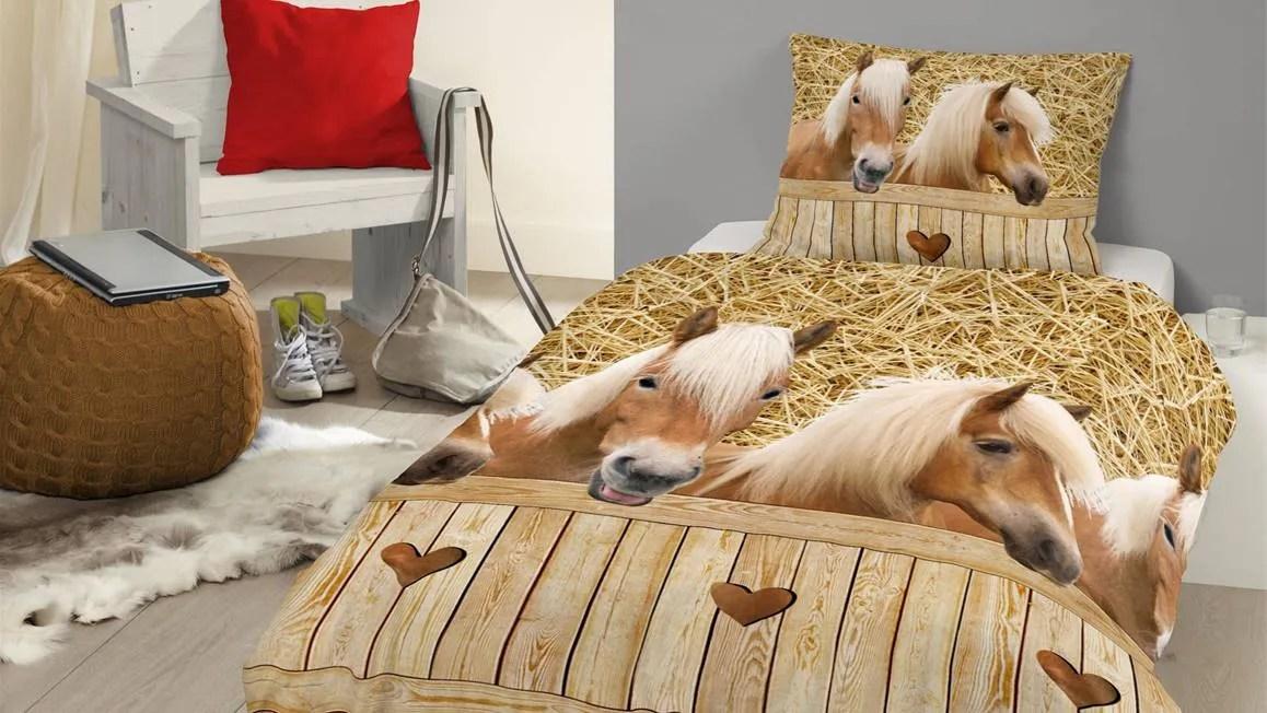 Horses dekbedovertrek  van zacht katoen  Smulderstextielnl