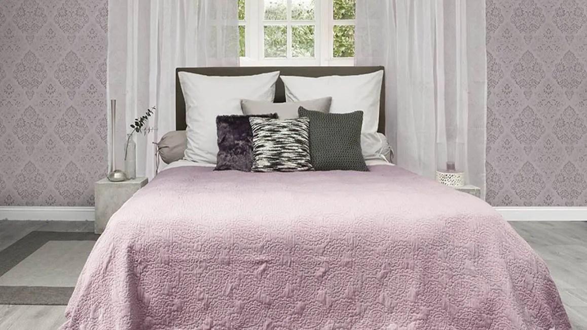 Heckett  Lane Premium bedsprei  Roze  Smulderstextielnl