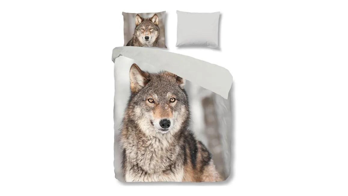 Good Morning Wolf dekbedovertrek  multi  Smulderstextielnl