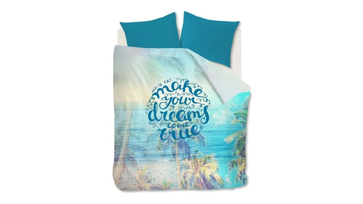 Ambiante Polly dekbedovertrek  Aqua blauw