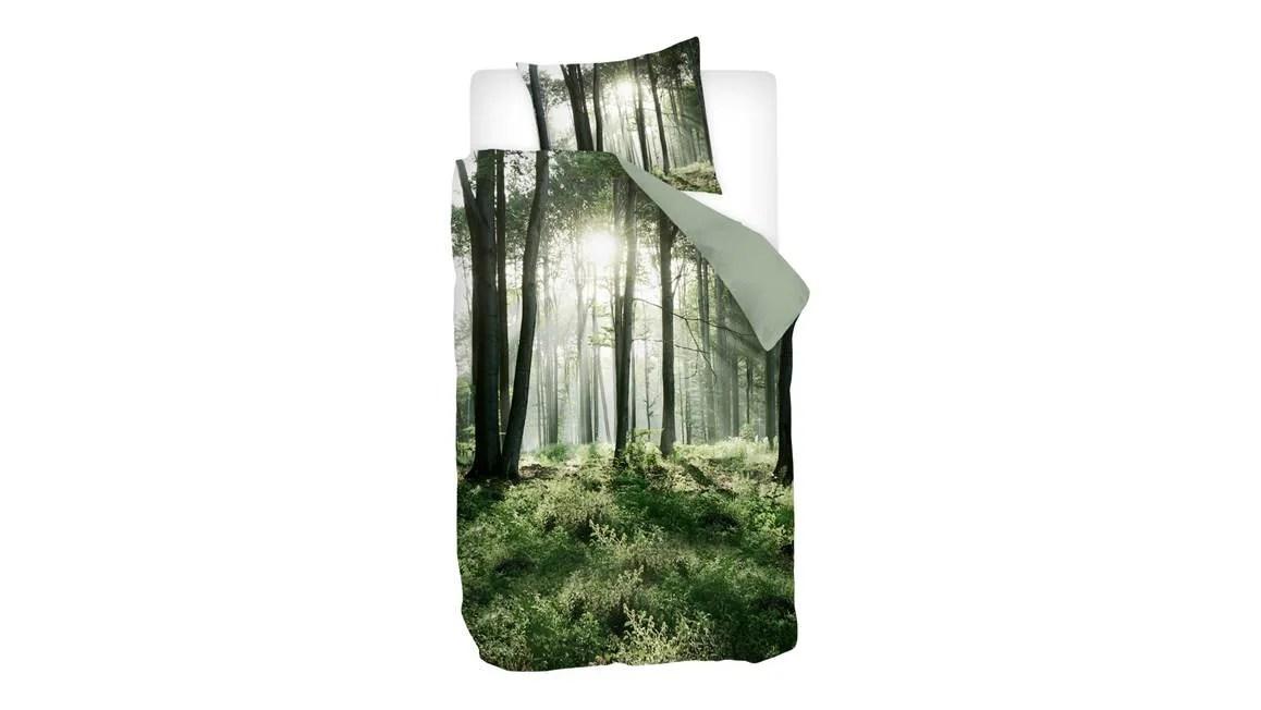 Snoozing Forest dekbedovertrek  Green  Smulderstextielnl