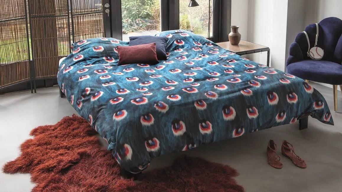 SNURK Peacock dekbedovertrek  Blauw  Smulderstextielnl
