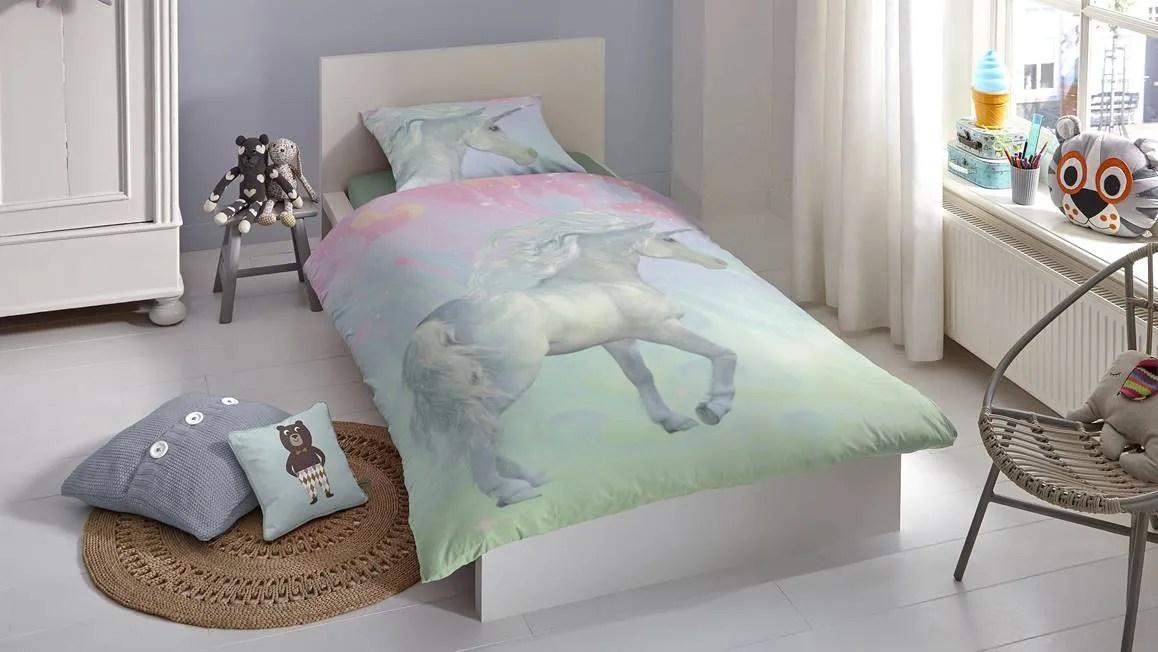 Good Morning Unicorn dekbedovertrek Eenhoorn  Multi