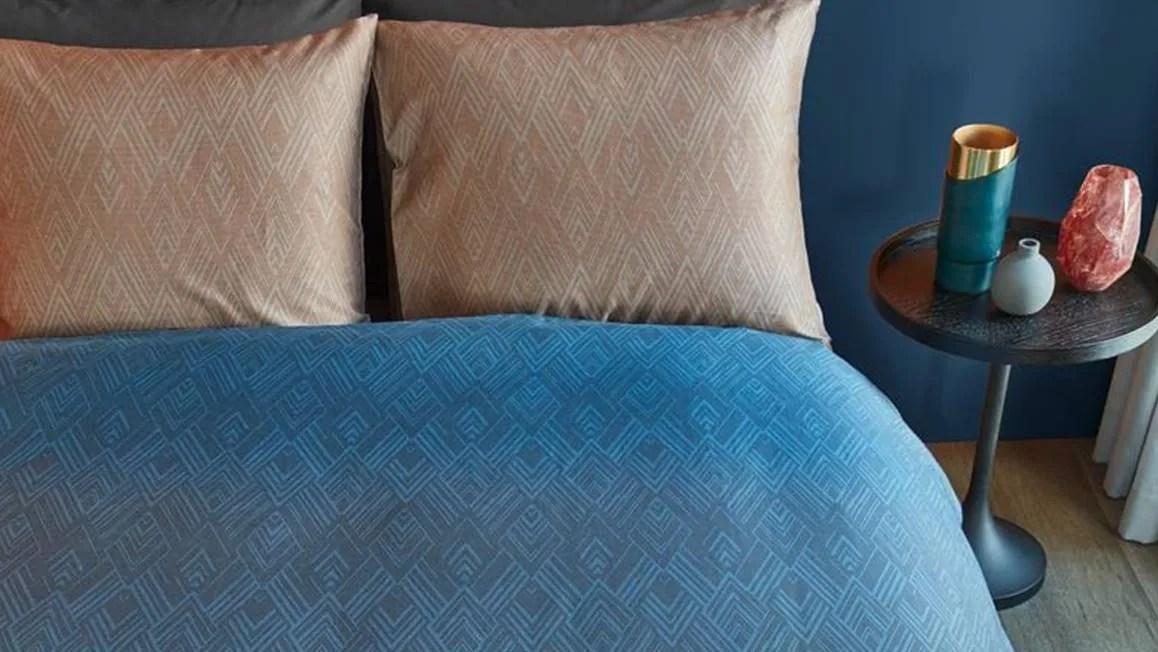 Beddinghouse Points and Lines dekbedovertrek  Blue