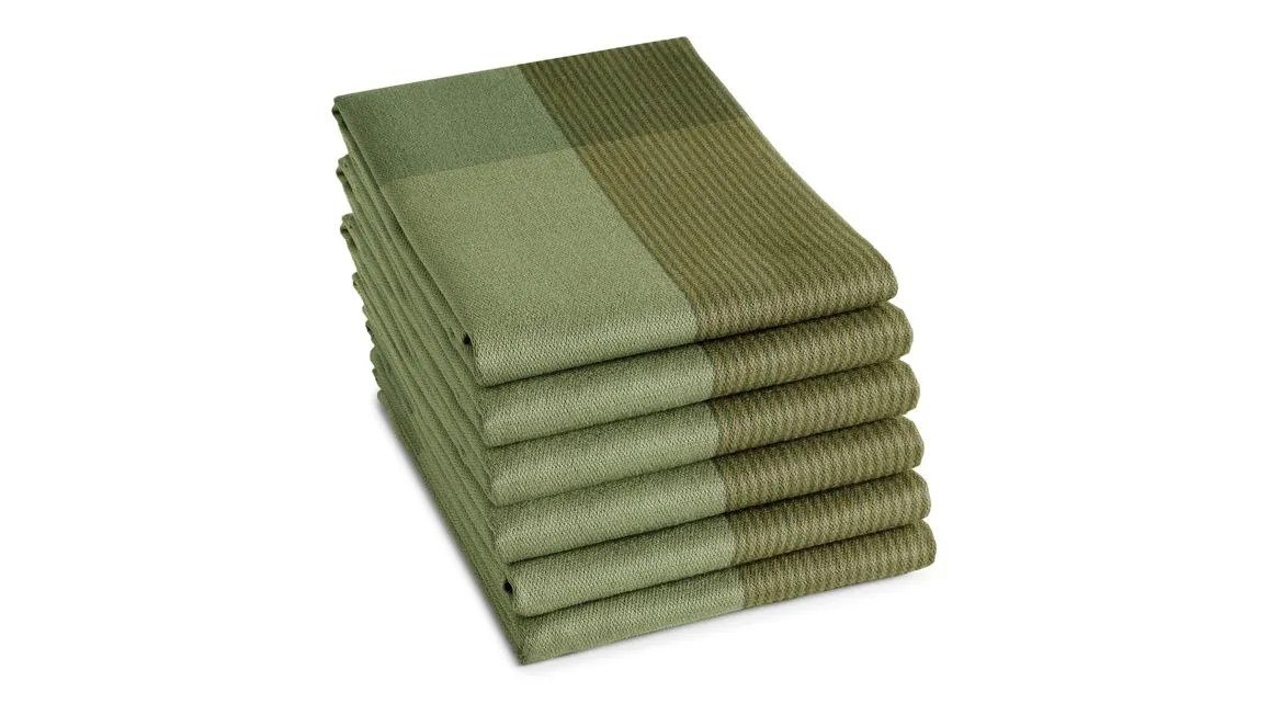 DDDDD Blend theedoek set van 6  Olive Green