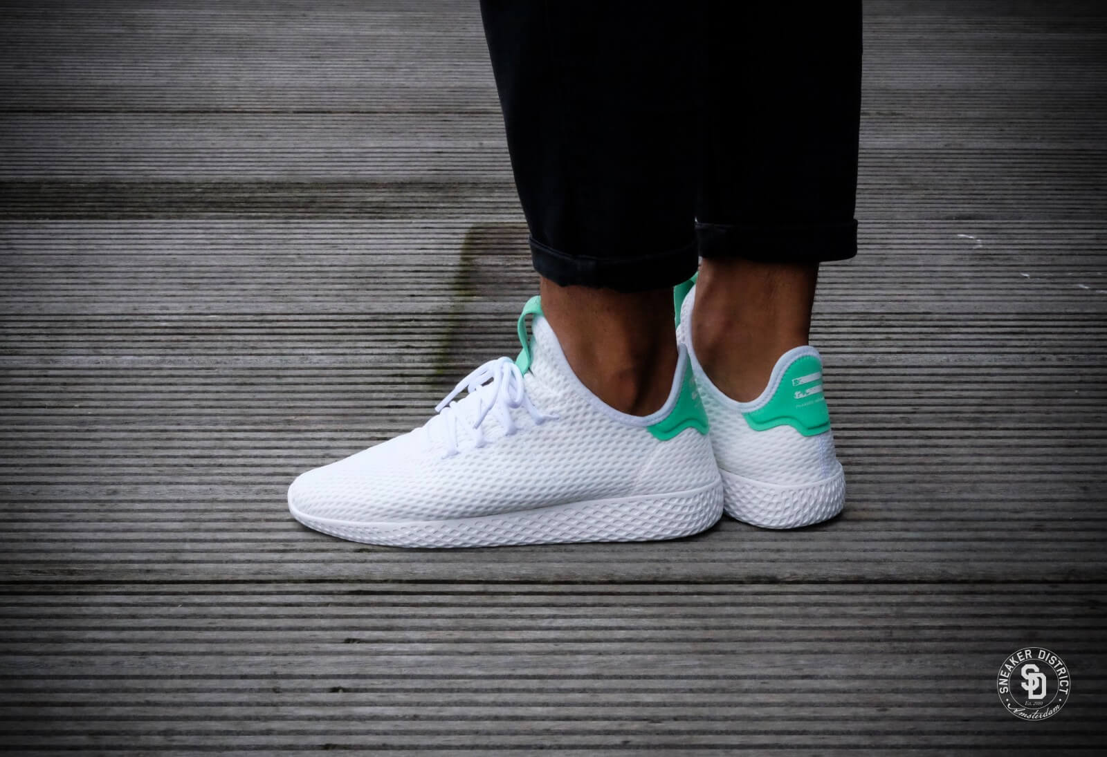 ADIDAS PHARRELL WILLIAMS TENNIS HU GREEN GLOW HABITAT Store