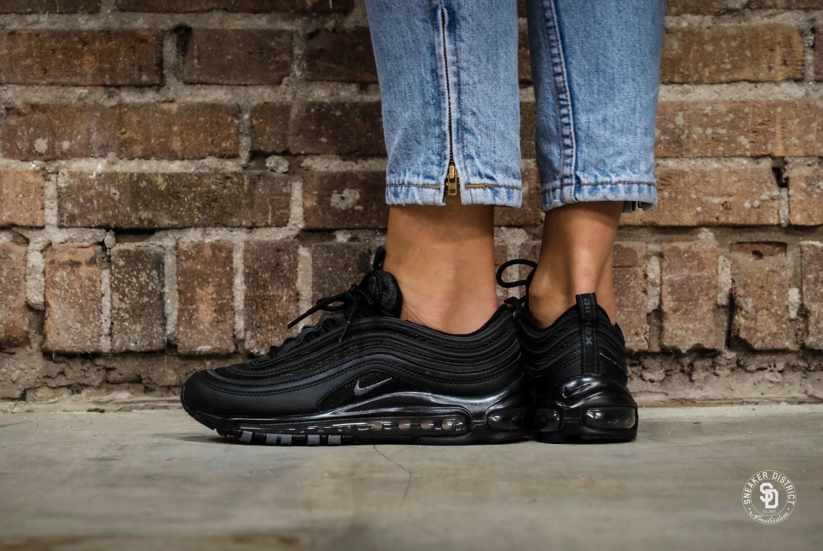 Nike Womens Air Max 97 BlackBlack Dark Grey Sneakers