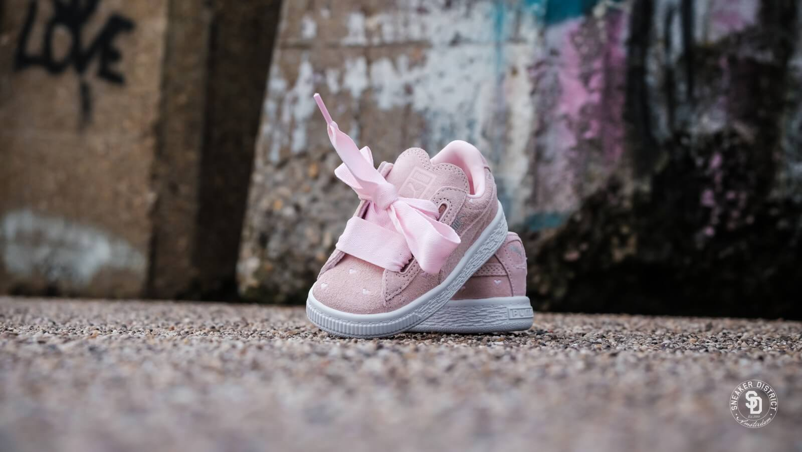Puma Suede Heart Valentine Infant Pearl 365137 03
