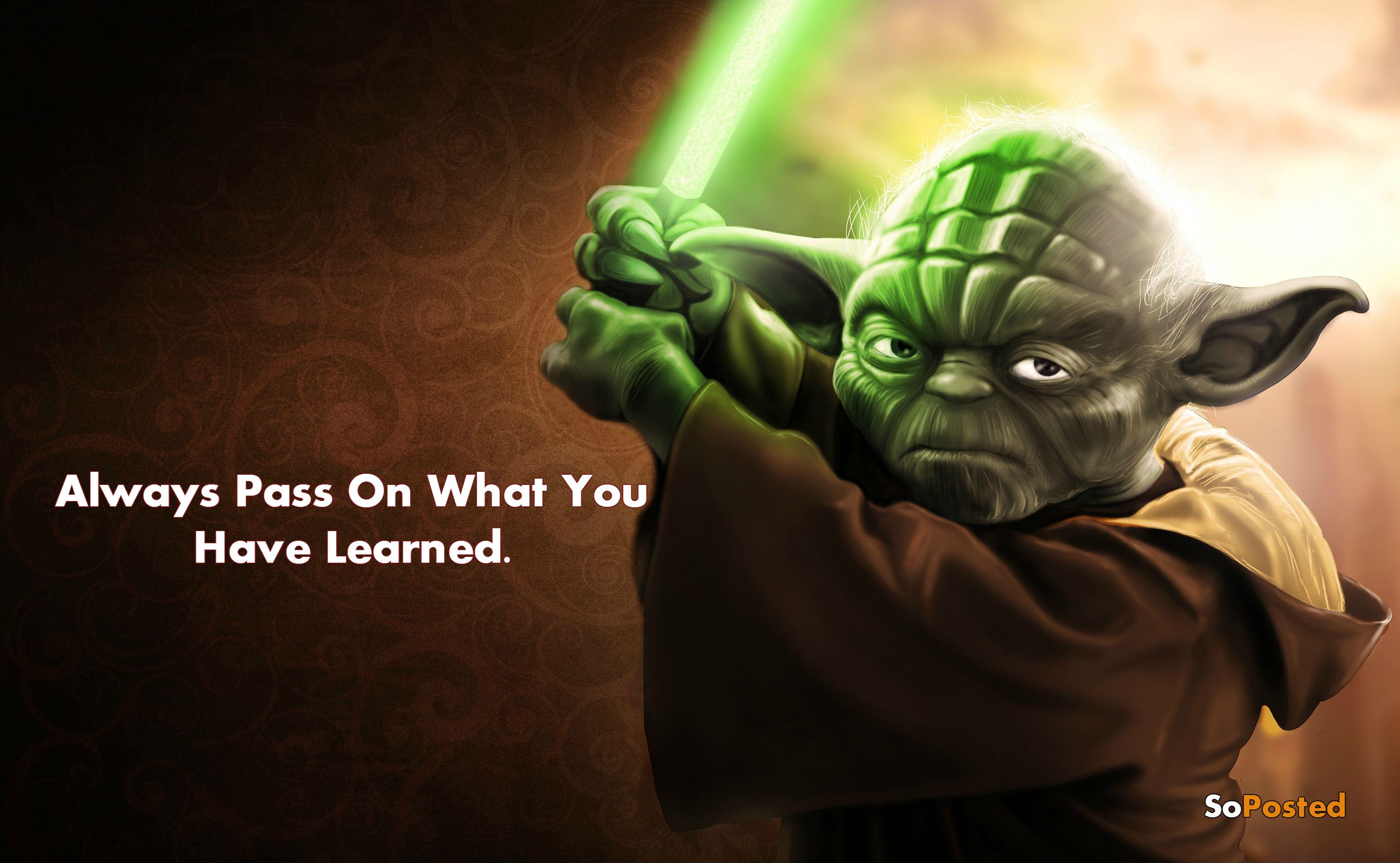 Jedi Quote Wallpaper Yoda Ultimate Quotes By The Jedi Master Soposted