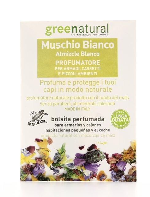 Muschio Bianco  Profumatore per Armadi Cassetti e Piccoli Ambienti  Greenatural