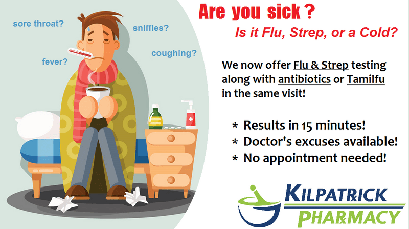 Flu and Strep Testing - Kilpatrick Pharmacy