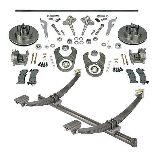 Gasser Straight Axle, Ford Spindle and Brake Kits, 58-1/4