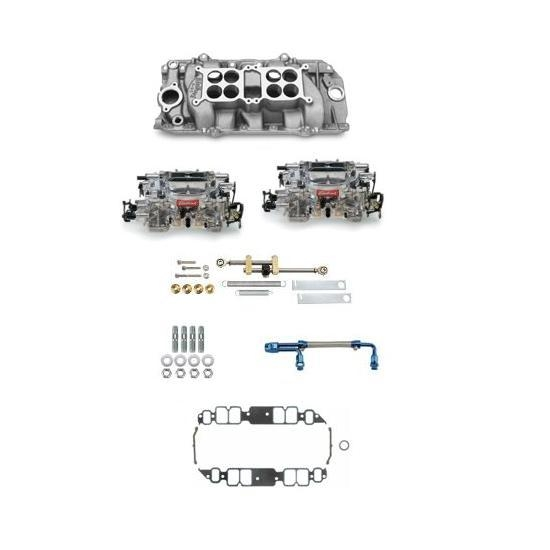 Edelbrock Big Block Chevy Dual Quad Set-Up, Rectangular