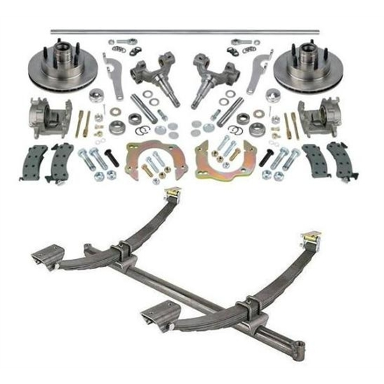 Gasser Straight Axle, Chevy Spindle and Brake Kits, 54-1/2
