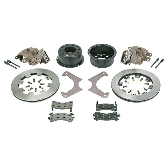 All kinds of brake parts including the calipers and the rotors and hats