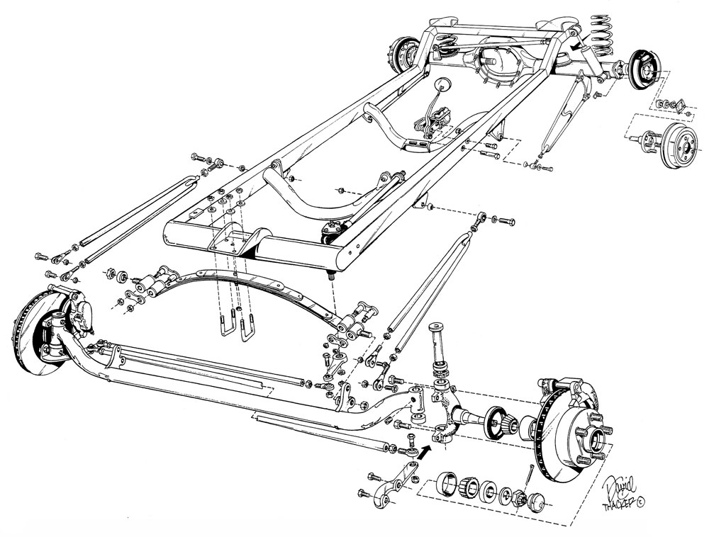 Basic 1923 T-Bucket Frame Kit w/ Standard Body and Bed