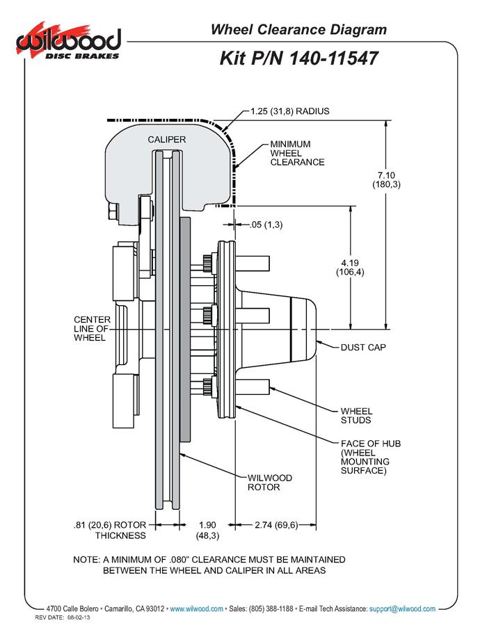 Wilwood 140-11547-R FDL Front Brake Hub Kit, Magnum Force