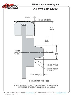 Wilwood 14013202D DPDB Pro Series Front Disc Brake Kit
