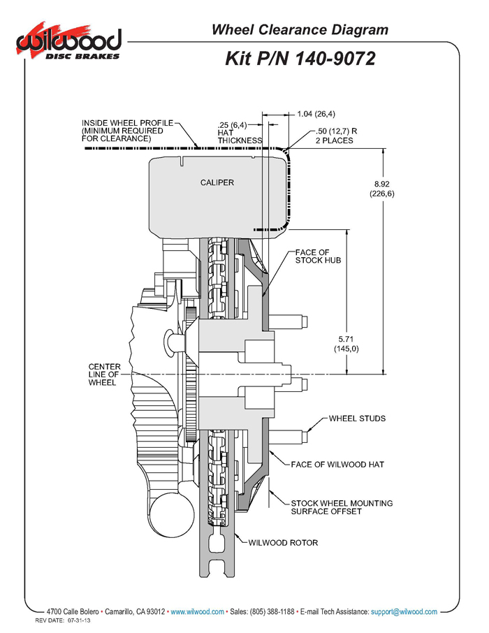 Wilwood 140-9072 TC6R 16 Inch Front Brake Kit, 2004-08