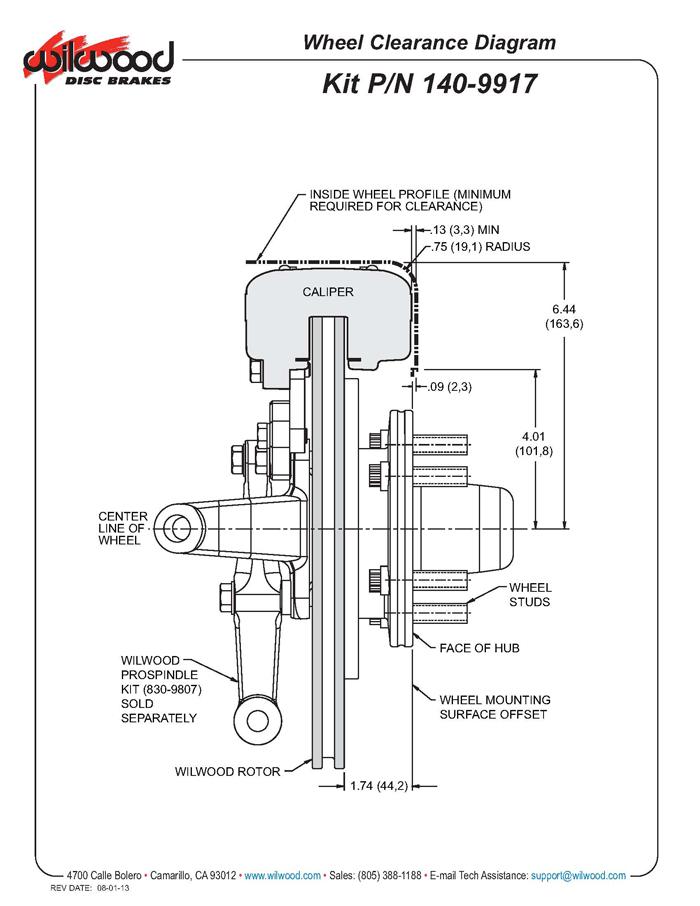 Wilwood 140-9917-DR FDLI 11 Inch Front Brake Kit, WWE Pro