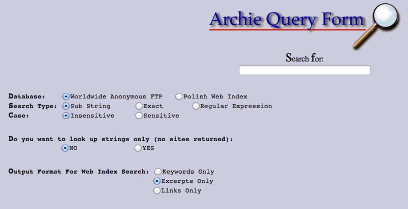 Resultado de imagen para Archie Search