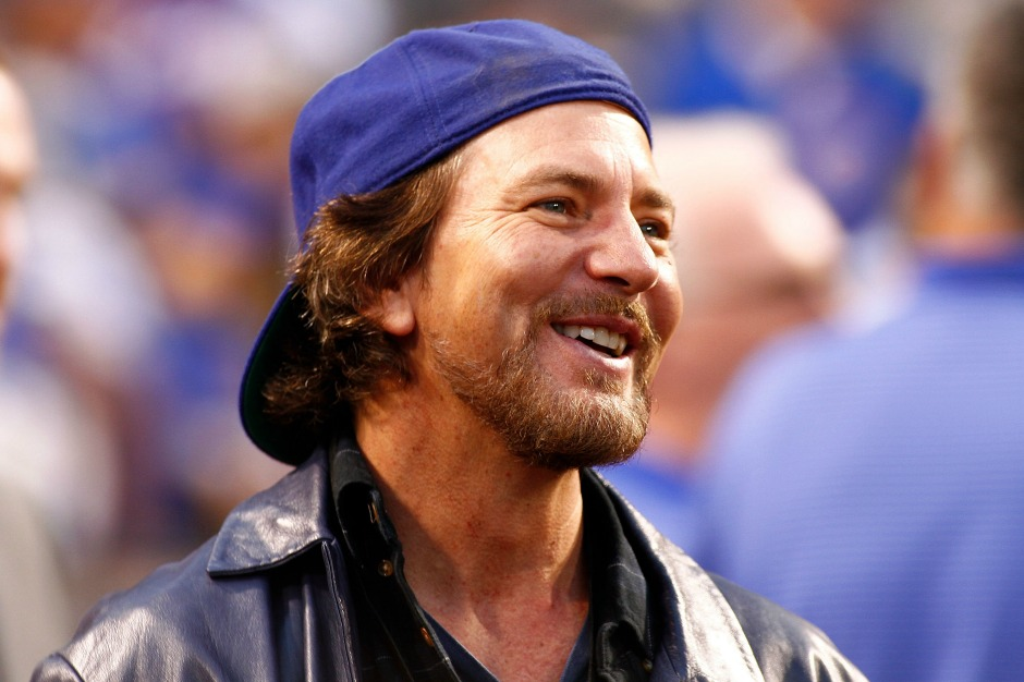 Eddie Vedder Is Really Pumped About the Cubs Beating the