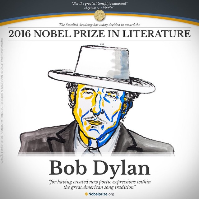 Image result for bob dylan nobel