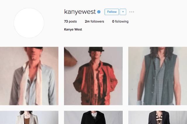 kanye west instagram fashion