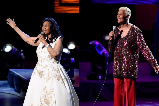 Image result for aretha franklin and dionne warwick