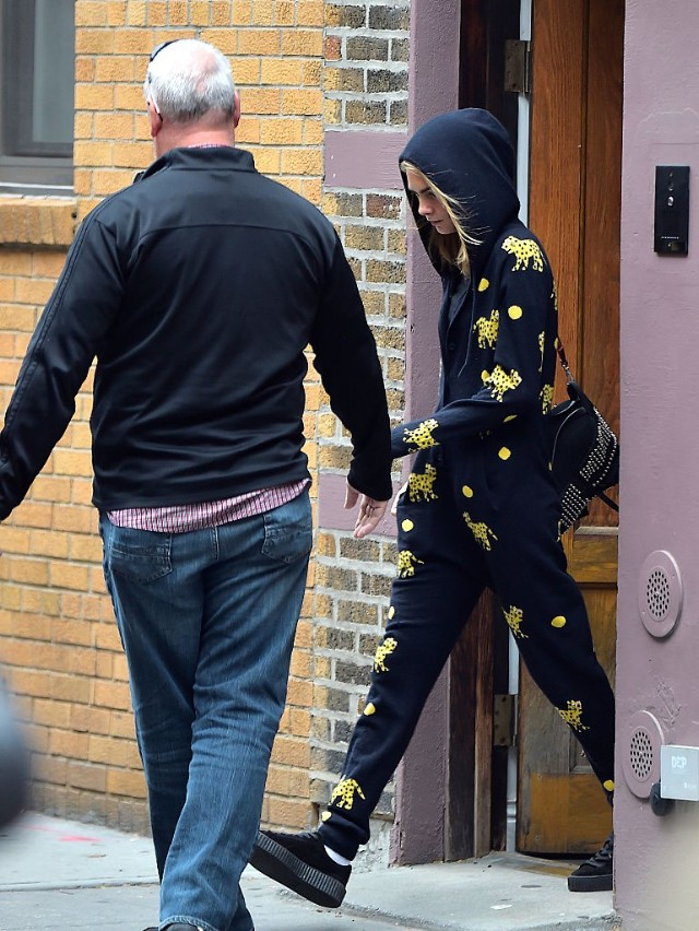 Cara Delevingne leaving Taylor's apartment on September 29th, 2016