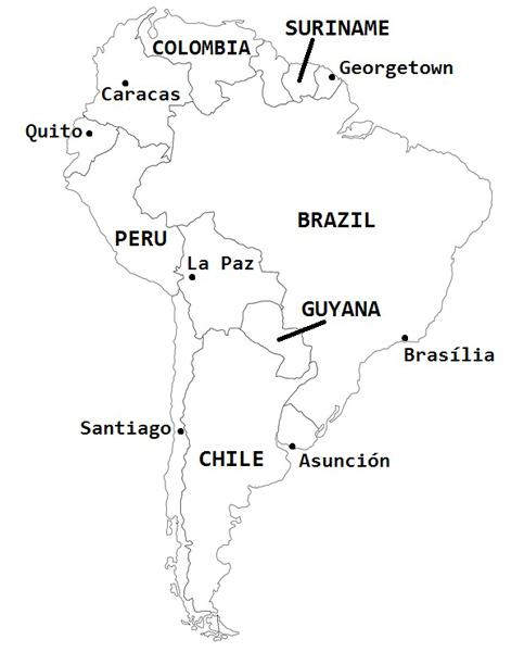 Fix the South America Map Quiz