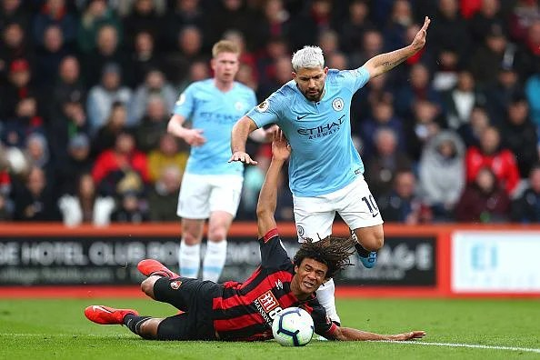 Ake's display typified in this photo - putting his body on the line to deny Aguero and more on many occasions