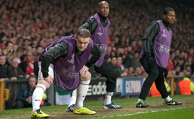 Wayne Rooney (L) has been unhappy since being left on the bench against Real Madrid on