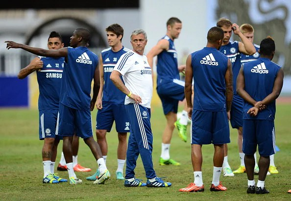 Jose Mourinho during a Chelsea FC training session at Rajamangala Stadium on July 16, 2013 in Bangkok, Thailand.  (Getty Images)
