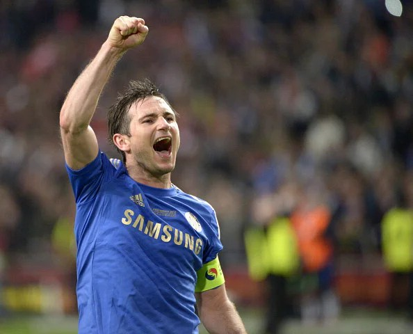 Frank Lampard of Chelsea celebrates victory after the UEFA Europa League Final between SL Benfica and Chelsea FC at the Amsterdam Arena on May 15th, 2013 in Amsterdam, Netherlands. (Getty Images)