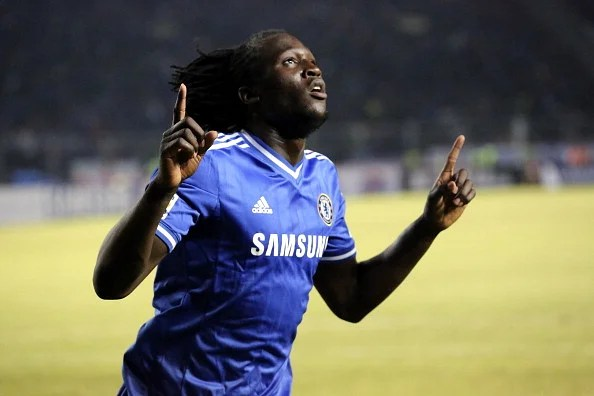 Romelu Lukaku  celebrates scoring a goal during the match between Chelsea and Indonesia All-Stars at Gelora Bung Karno Stadium on July 25, 2013 in Jakarta, Indonesia.  (Getty Images)