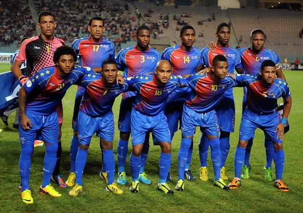 Cape Verde pose before a FIFA World Cup qualifier vs. Tunisia on September 7, 2013 in Rades Olympic Stadium in Tunis. (Getty Images)