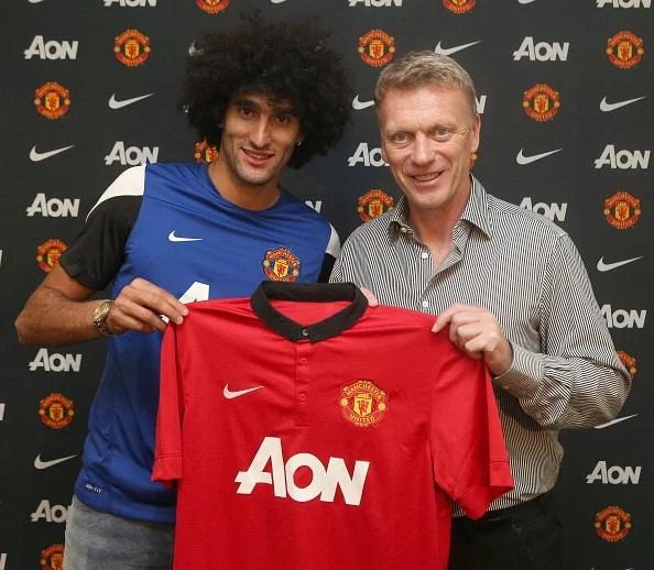 David Moyes unveils new signing Marouane Fellaini