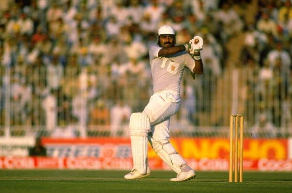 Javed Miandad of Pakistan