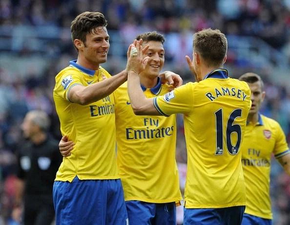 Will Mesut Ozil and Olivier Giroud start against Marseilles