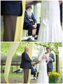 Barefoot-bride-yellow-outdoor Wedding