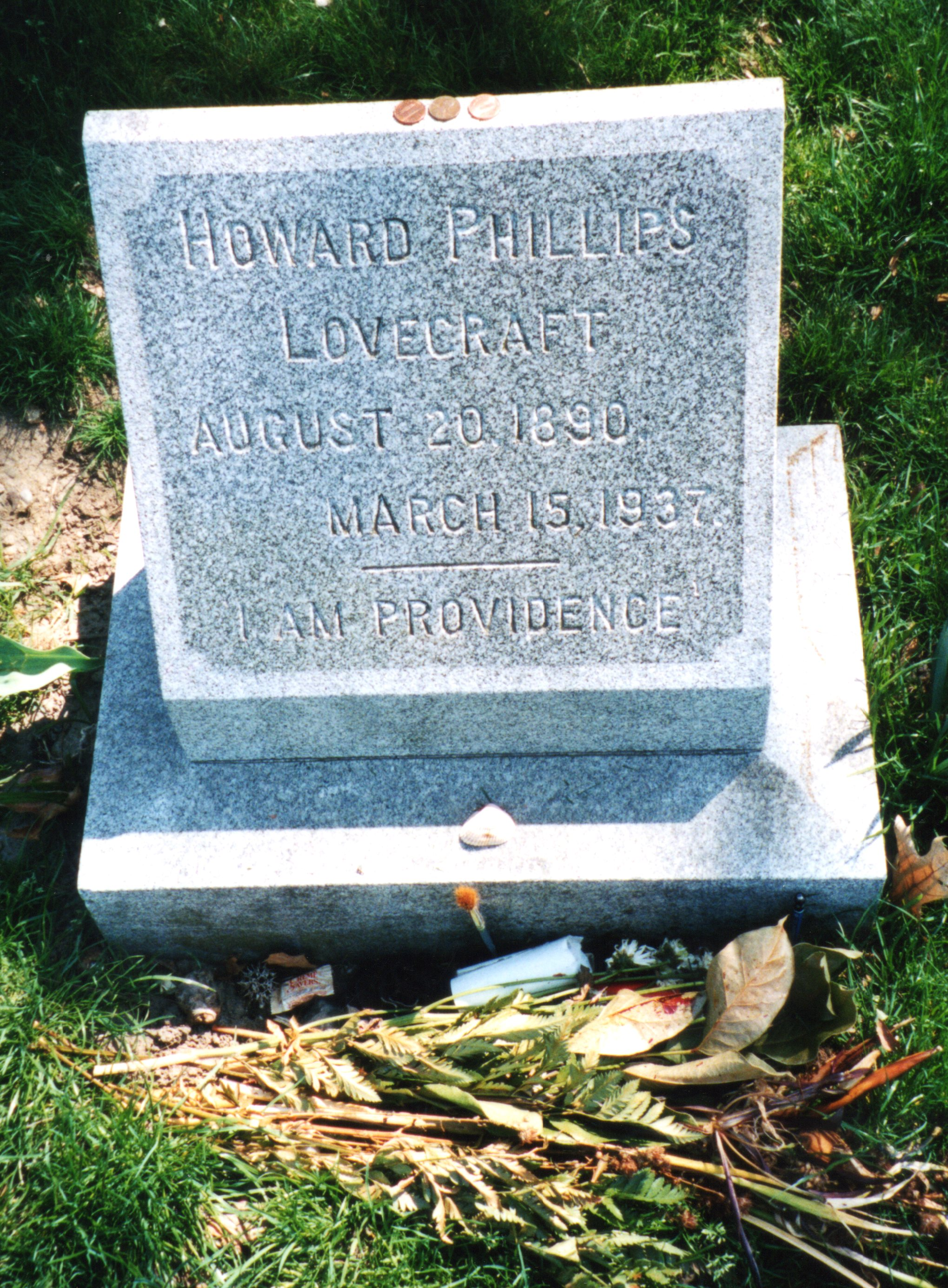 H. P. Lovecraft's grave in Providence (via Cemetery Travel)