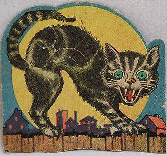 Cute Skeleton Wallpaper Vintage Halloween Sucker Holder E Rosen Black Cat On