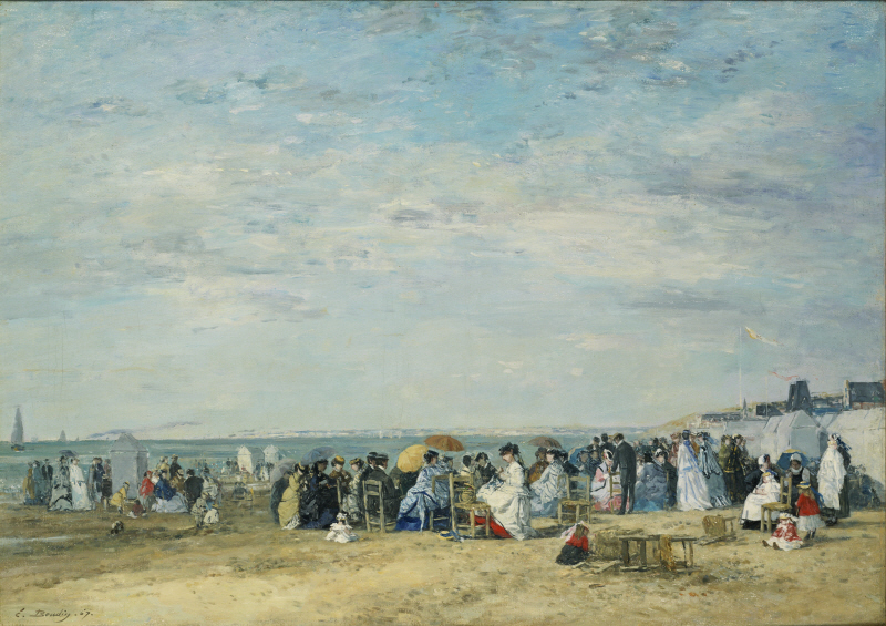 Beach of Trouville - Boudin