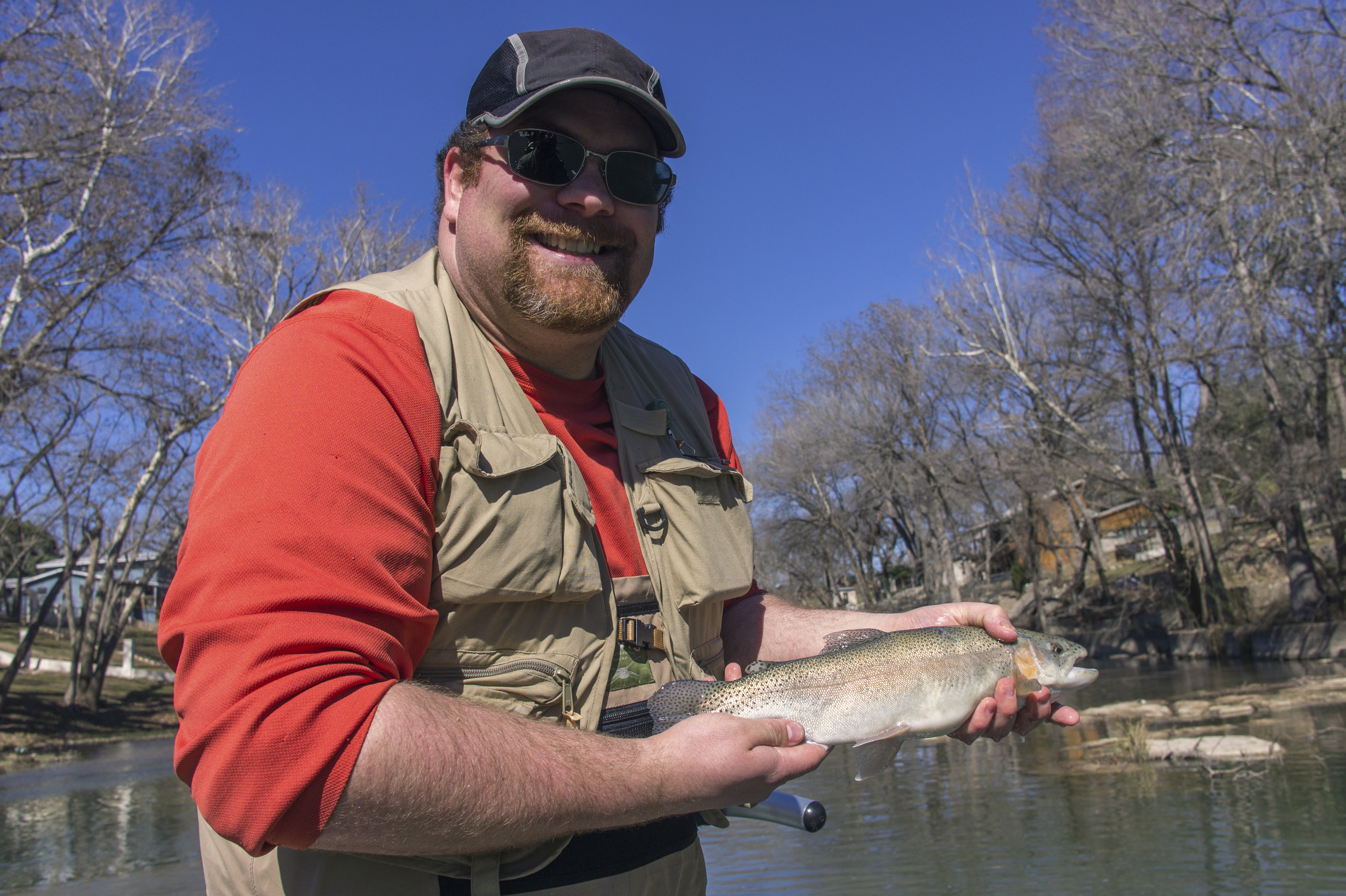 Alvin dedeaux fly fishing fly fishing central texas for Guadalupe river fly fishing