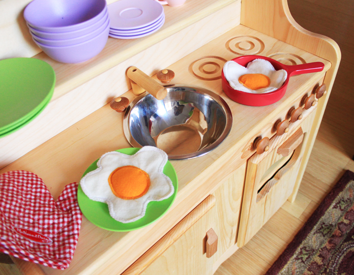 play kitchen dishes how to organize my diy felt food- fried eggs — life is made with katie miles