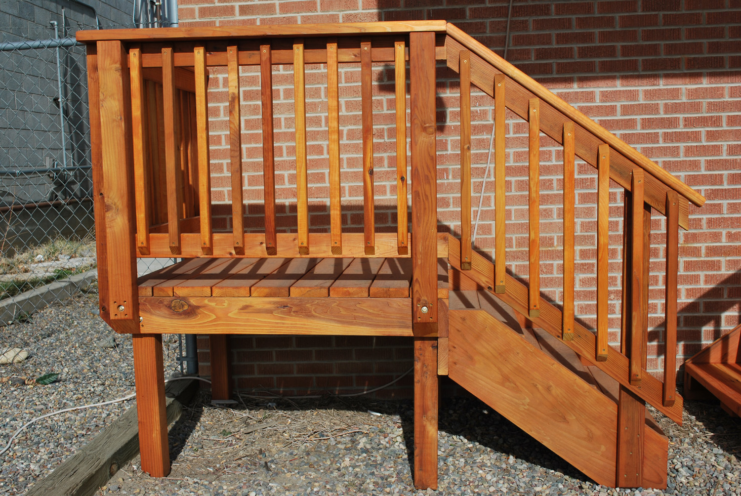 chair planter stand cool dorm chairs spec_deck pre-built deck — the redwood store