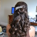 Sweet 16 hairstyles half up half down with tiara half up half down