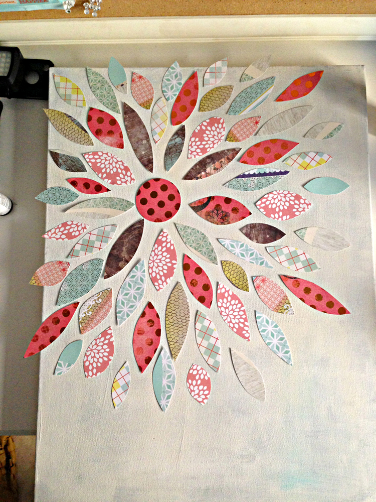 Summer Crafting Day 12 Paper Flower Canvas Art Me Amp My