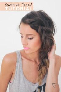 Hair Tutorial // Thick Summer Braid  Treasures & Travels